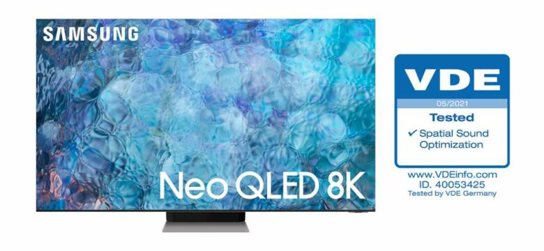 """Samsung Neo QLED TV'ler, VDE'den """"Mekânsal Ses Optimizasyonu"""" sertifikasını aldı"""